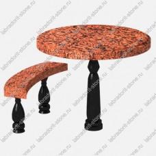 Стол и скамейка из гранита Kl-002