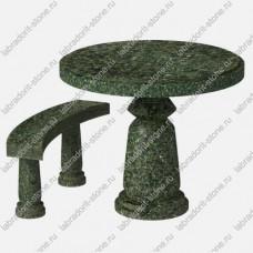 Стол и скамейка из гранита Kl-004
